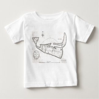 Vintage Map of Nantucket (1782) Baby T-Shirt