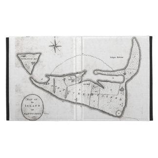 Vintage Map of Nantucket 1782 iPad Case