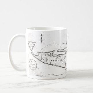 Vintage Map of Nantucket (1782) Coffee Mug