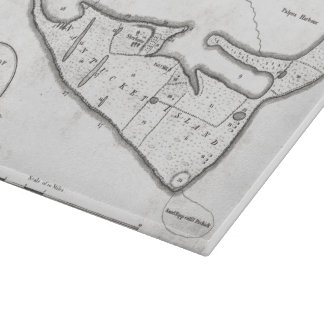 Vintage Map of Nantucket (1782) Cutting Board
