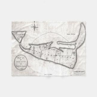 Vintage Map of Nantucket (1782) Fleece Blanket