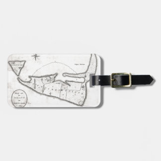 Vintage Map of Nantucket (1782) Luggage Tag