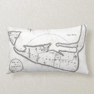 Vintage Map of Nantucket (1782) Lumbar Pillow