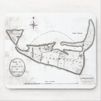 Vintage Map of Nantucket (1782) Mouse Pad