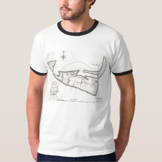 Vintage Map of Nantucket (1782) T Shirt