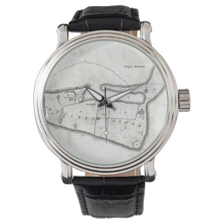 Vintage Map of Nantucket (1782) Wrist Watch