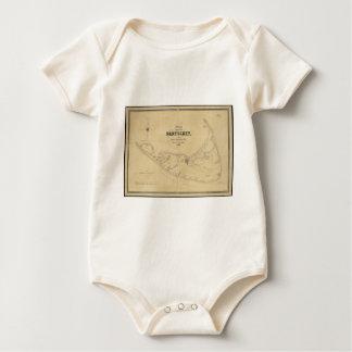 Vintage Map of Nantucket (1838) Baby Bodysuit