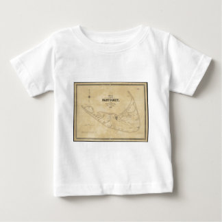 Vintage Map of Nantucket (1838) Baby T-Shirt