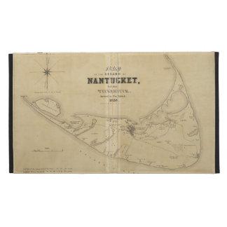 Vintage Map of Nantucket 1838 iPad Folio Cover