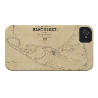 Vintage Map of Nantucket 1838 Case-Mate iPhone 4 Cases
