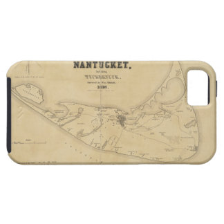 Vintage Map of Nantucket 1838 iPhone 5 Cases