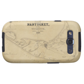 Vintage Map of Nantucket 1838 Galaxy SIII Cases
