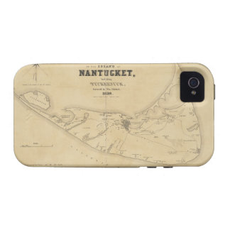 Vintage Map of Nantucket 1838 Case-Mate iPhone 4 Cover