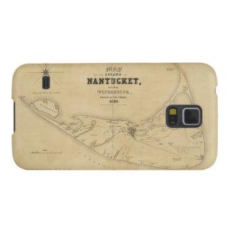 Vintage Map of Nantucket 1838 Samsung Galaxy Nexus Cases