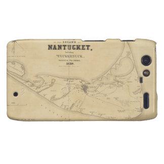 Vintage Map of Nantucket 1838 Motorola Droid RAZR Covers