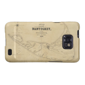 Vintage Map of Nantucket (1838) Samsung Galaxy SII Covers