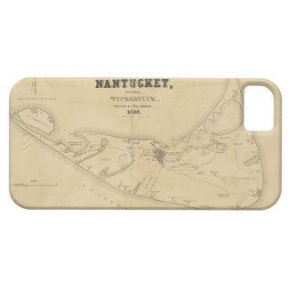 Vintage Map of Nantucket 1838 iPhone 5 Covers