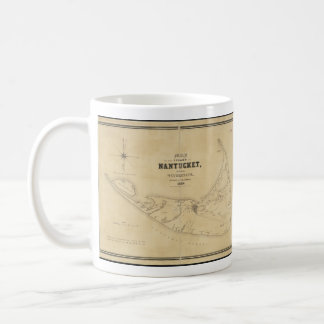Vintage Map of Nantucket (1838) Classic White Coffee Mug