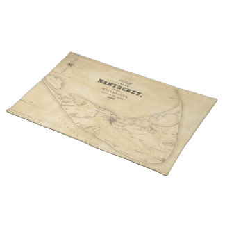 Vintage Map of Nantucket (1838) Cloth Placemat