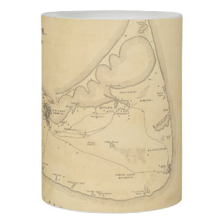 Vintage Map of Nantucket (1838) Flameless Candle