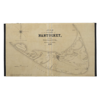 Vintage Map of Nantucket (1838) iPad Folio Cover