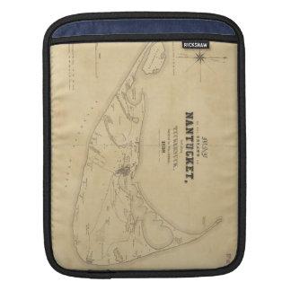 Vintage Map of Nantucket (1838) iPad Sleeve