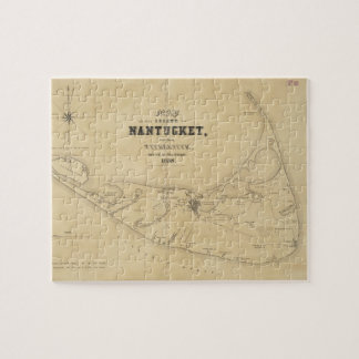 Vintage Map of Nantucket (1838) Jigsaw Puzzles