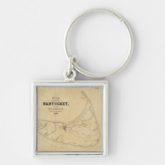 Vintage Map of Nantucket (1838) Key Chain
