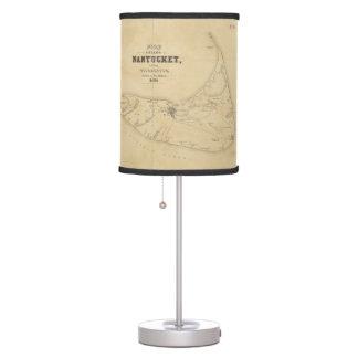 Vintage Map of Nantucket (1838) Desk Lamp