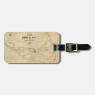 Vintage Map of Nantucket (1838) Luggage Tag