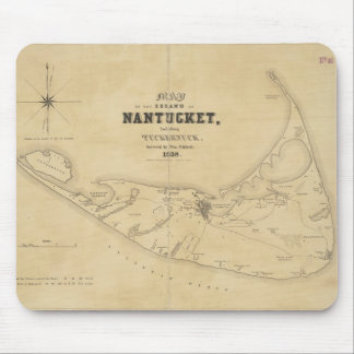 Vintage Map of Nantucket (1838) Mouse Pad