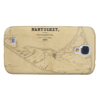Vintage Map of Nantucket (1838) Samsung Galaxy S4 Case