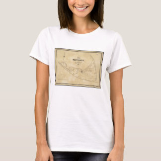 Vintage Map of Nantucket (1838) T-Shirt