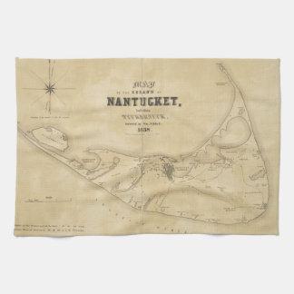 Vintage Map of Nantucket (1838) Towel