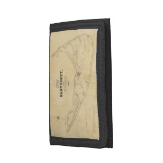 Vintage Map of Nantucket (1838) Tri-fold Wallet