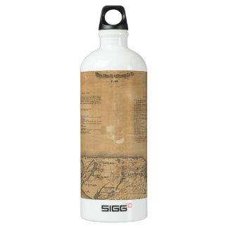 Vintage Map of Nantucket (1869) Aluminum Water Bottle