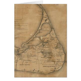 Vintage Map of Nantucket (1869) Greeting Card