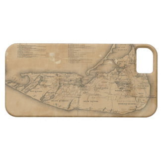 Vintage Map of Nantucket 1869 iPhone 5 Covers