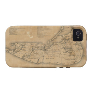 Vintage Map of Nantucket (1869) Case-Mate iPhone 4 Case