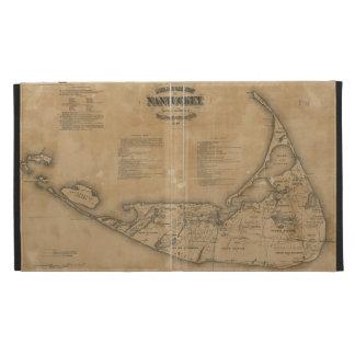 Vintage Map of Nantucket 1869 iPad Folio Covers