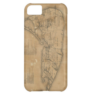 Vintage Map of Nantucket 1869 iPhone 5C Covers