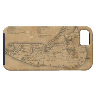 Vintage Map of Nantucket 1869 iPhone 5 Cases