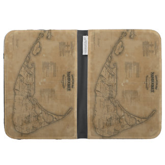 Vintage Map of Nantucket (1869) Cases For The Kindle