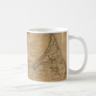 Vintage Map of Nantucket (1869) Classic White Coffee Mug