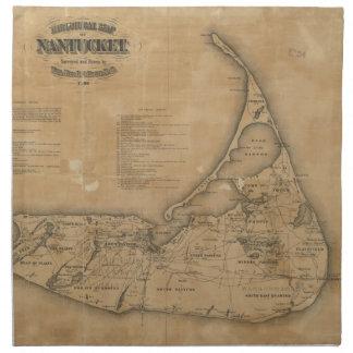 Vintage Map of Nantucket (1869) Cloth Napkin