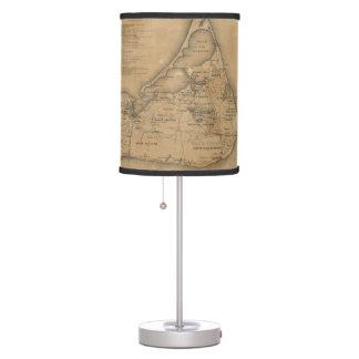 Vintage Map of Nantucket (1869) Desk Lamp