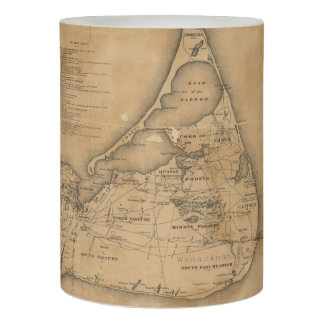 Vintage Map of Nantucket (1869) Flameless Candle