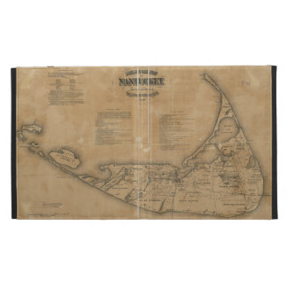 Vintage Map of Nantucket (1869) iPad Folio Covers