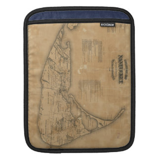 Vintage Map of Nantucket (1869) Sleeves For iPads