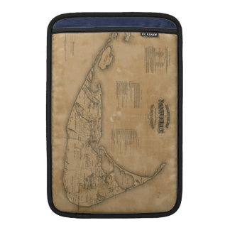 Vintage Map of Nantucket (1869) MacBook Sleeve
